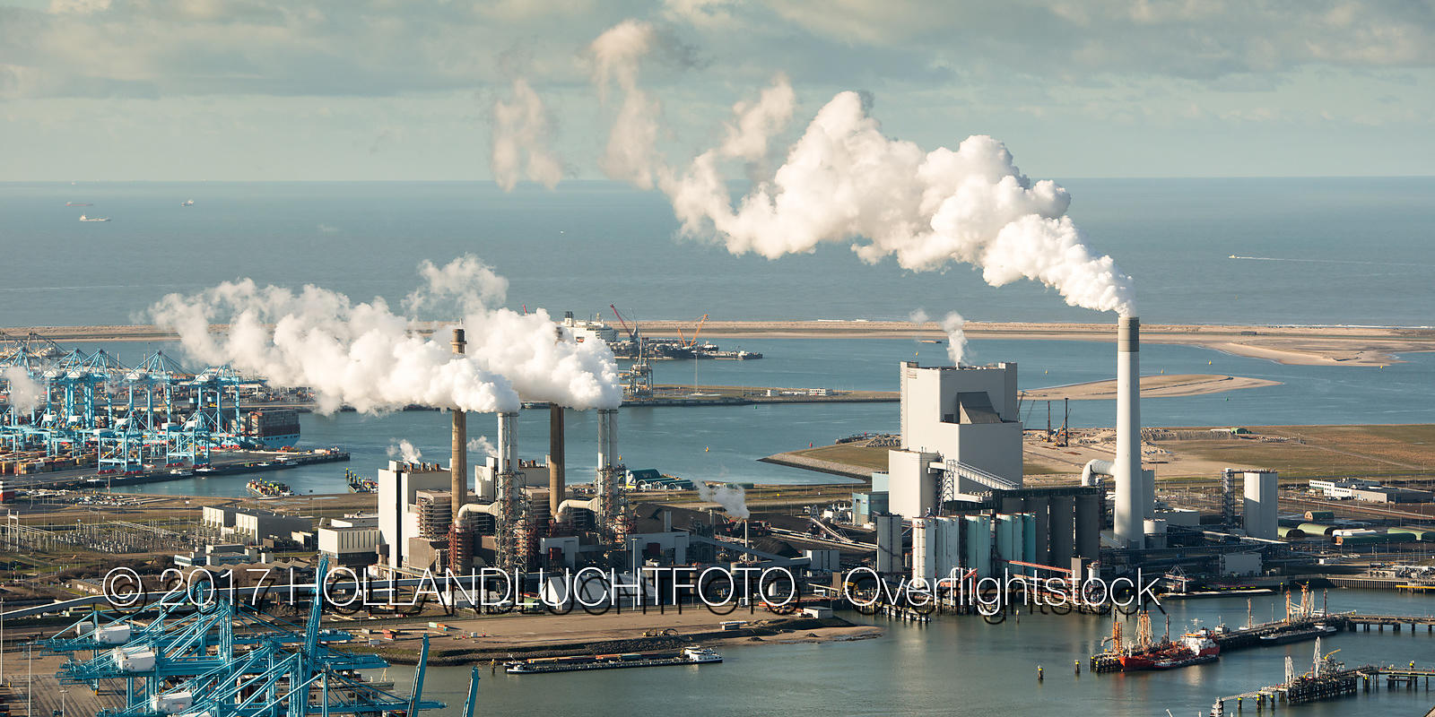 Electricity Power Station  on the Maasvlakte Near Rotterdam Netherlands