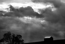 Barn with approaching storm,