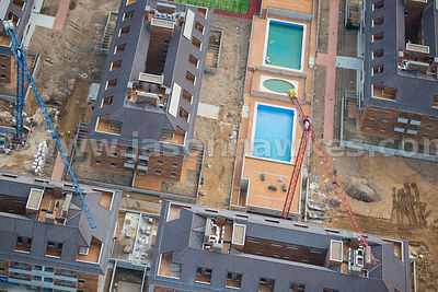 Aerial view of development in Boadilla De Monte, Spain