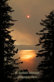 Sunset over Crater Lake, Oregon, USA