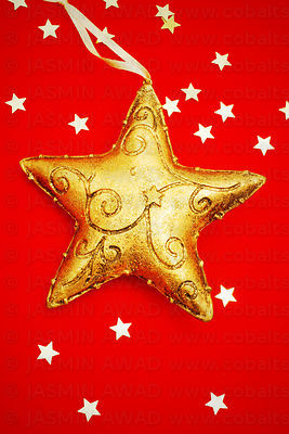 Large star on red background