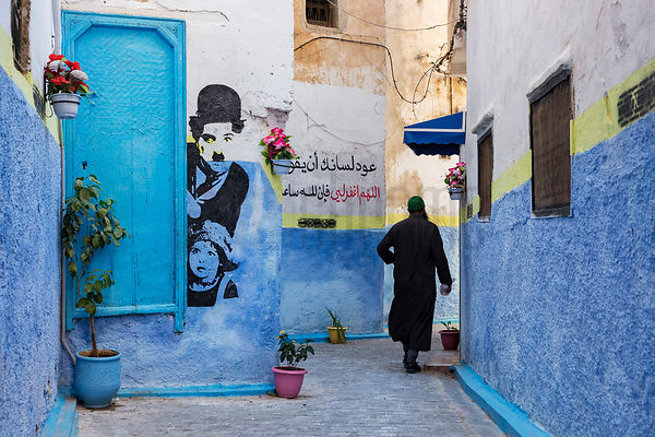 Colorful Alley inr the Skait Abaseyinne Quarter of Fès