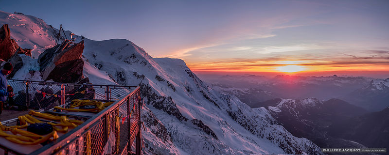 Sunset at Cosmiques - Chamonix Mont-Blanc