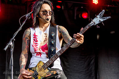 Ashley Purdy,  bass, Black Veil Brides