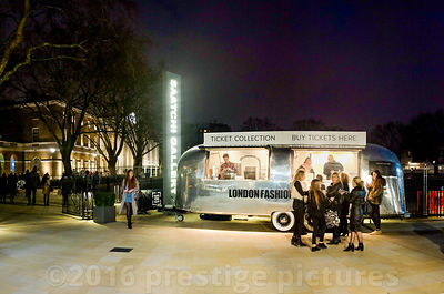 Retro Style Exterior Ticket Office for London Fashion Weekend at the Saatchi Gallery