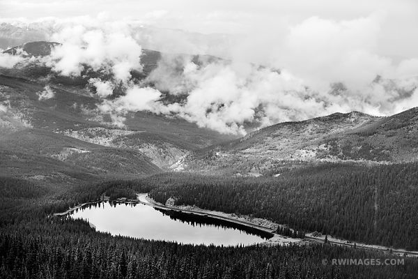 MOUNT EVANS ROAD SCENIC BYWAY COLORADO ROCKIES BLACK AND WHITE