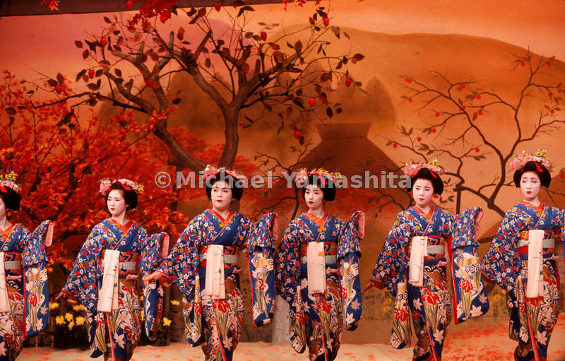Miyako Odori of the Gion in Kyoto. Not all artistic expression in Japan is understated and restrained.