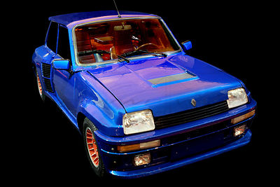 Renault 5 Turbo 2 Blue 1985 Art Photographs