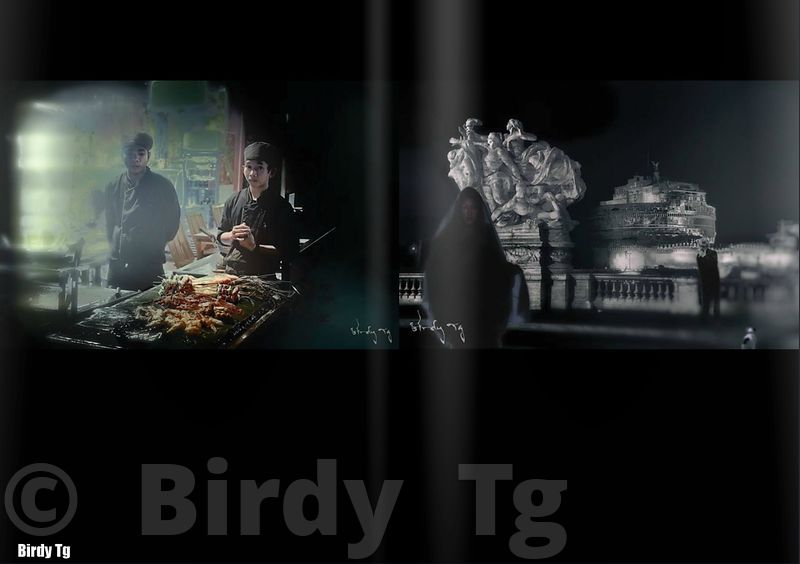 """Desperately waiting for Mr Zagat"" (left) - ""Angels never Die""(Right) by Birdy Tg"