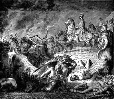 Hannibal escapes from Romans during Second Punic War