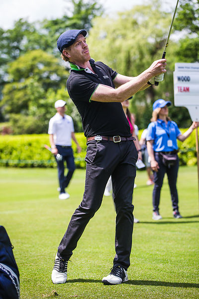 Homeland and Wolf Hall Actor Damian Lewis playing Golf in the Wentworth Pro Am on Wentworth West Course in Surrey