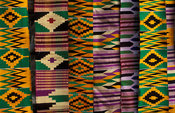 Kente cloth, Tafi Abuipe, Volta region, Ghana