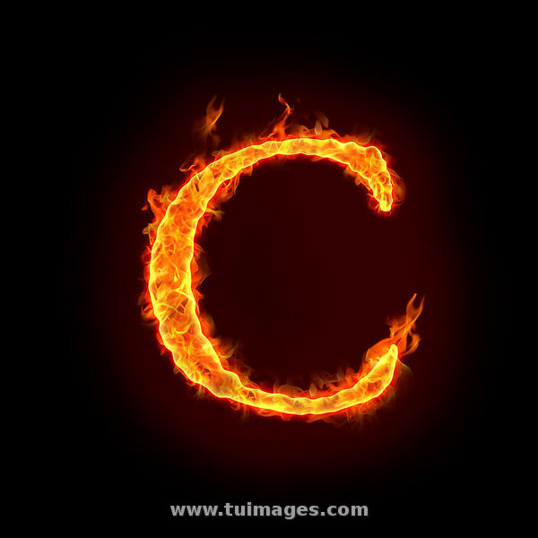 Letter C On Fire - Bing images
