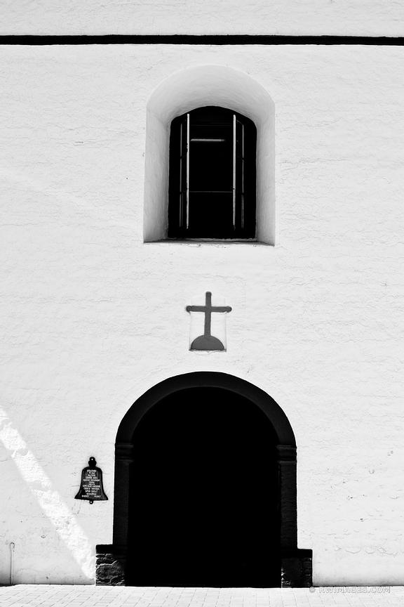 OLD MISSION SANTA INES SOLVANG SANTA BARBARA COUNTY CALIFORNIA BLACK AND WHITE VERTICAL