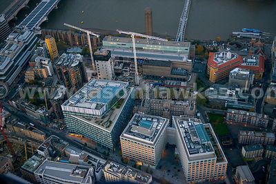 London. Aerial view of the Tate Modern