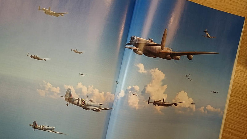 D-Day RAF Lancasters and Spitfires