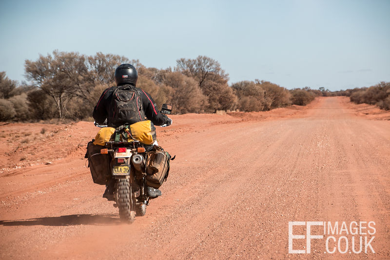 Biker In The Outback