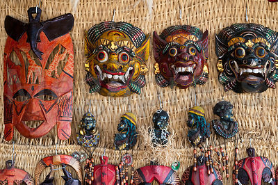 Local souvenirs crafts on sale made by the Nubian people in Gharb Soheil Nubian Village on the west bank of the River Nile next to Aswan Egypt