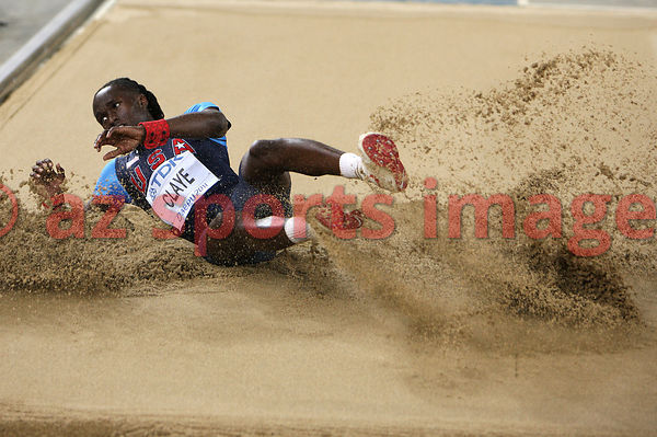 US athlete Will Claye competes in the men's long jump final at the IAAF World Championships in Daegu on September 2, 2011.