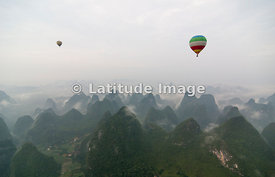 Karst Peaks In Yangshuo, Guanxi, China