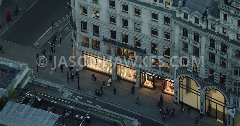 London Aerial Footage of Regent Street