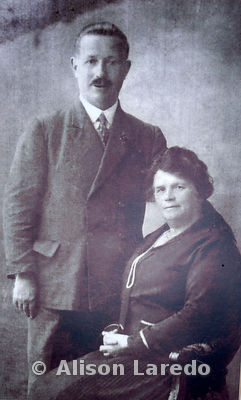 Henry McAneney and Margaret Mullen. Photo of photo taken in home of Mary B Conway by Alison Laredo in 2010. Likely datre of original is 1890s