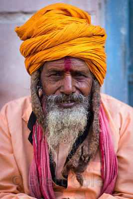 Sadhu with dreadlocks, Choti Basti, Pushkar, Rajasthan, India