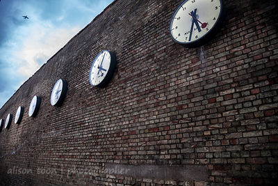 Clocks on Westferry Road, London