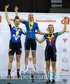 Junior Women Individual Pursuit Podium. 2016/2017 Track O-Cup #3/Eastern Track Challenge, Mattamy National Cycling Centre, Milton, On, February 11, 2017
