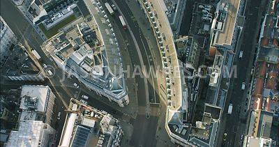 London Aerial Footage of Regent Street and Piccadilly Circus