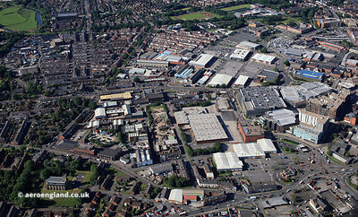 Wash  Lane   Bury Greater Manchester from the air