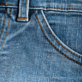 Close up on a jeans pants.