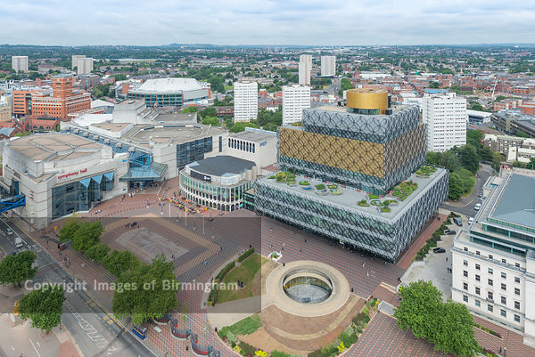 The New Library of Birmingham in Centenary Square, Birmingham