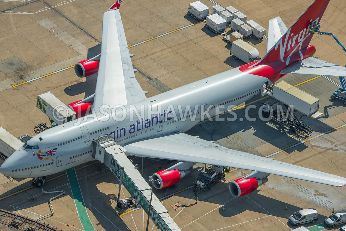 Gatwick airport, aerial view.