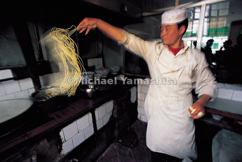 Noodles in Kashgar are considered the best in China.