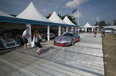 Celebrating 45 years of Martini Racing and 50 years of the Porsche 911 - 911 GT3 Cup in the Martini garage - Goodwood Festival of Speed 2013
