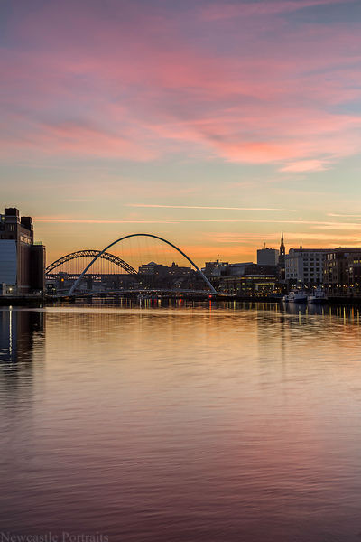 Tyne sunset.