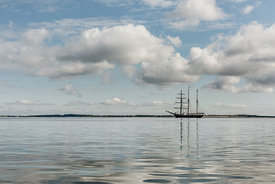 Tall ship on Limfjorden