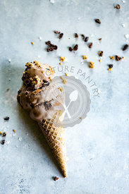 Chocolate Peanut Butter Ice Cream Cone
