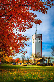 Frankfort Illinois in Autumn with Frankfort Grainery