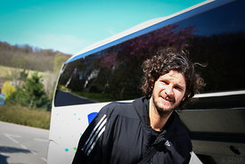 Laszlo NAGY of Veszprém during the Final Tournament - Final Four - SEHA - Gazprom league, team arrival in Varazdin, Croatia, 31.03.2016, ..Mandatory Credit ©SEHA/Zsolt Melczer.