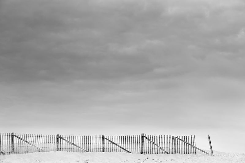 BEACH FENCE HERRING COVER BEACH CAPE COD MASSACHUSETTS BLACK AND WHITE