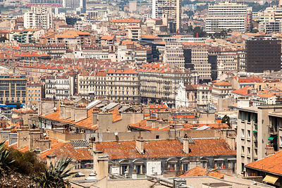 High View Looking over the Rooftops of Marseilles