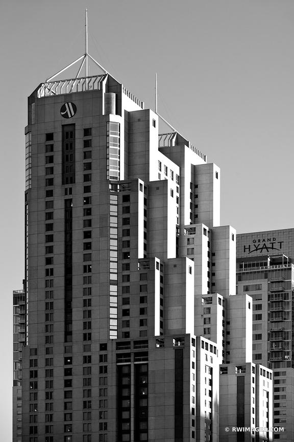 DOWNTOWN ARCHITECTURE SAN ANTONIO TEXAS BLACK AND WHITE