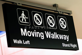 Moving Walkway Sign at Airport