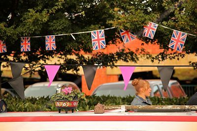 Pink & Black and Union Jack Bunting at the Banbury Canal Day