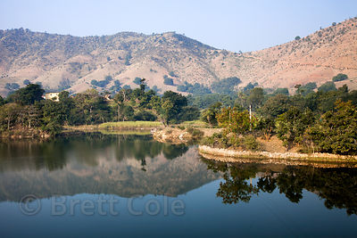Bucolic countryside north of Udaipur, Rajasthan, India