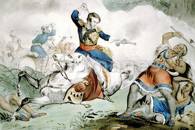 Death of Tecumseh at Battle of Thames during War of 1812