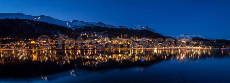 St.Moritz City by Night photos