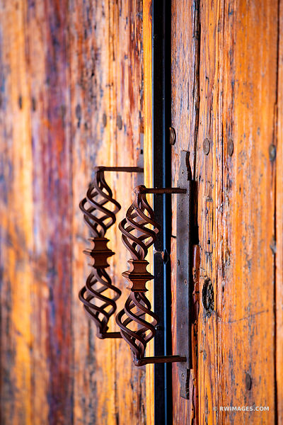 OLD DOOR IRON HANDLE NORTHERN NEW MEXICO COLOR VERTICAL